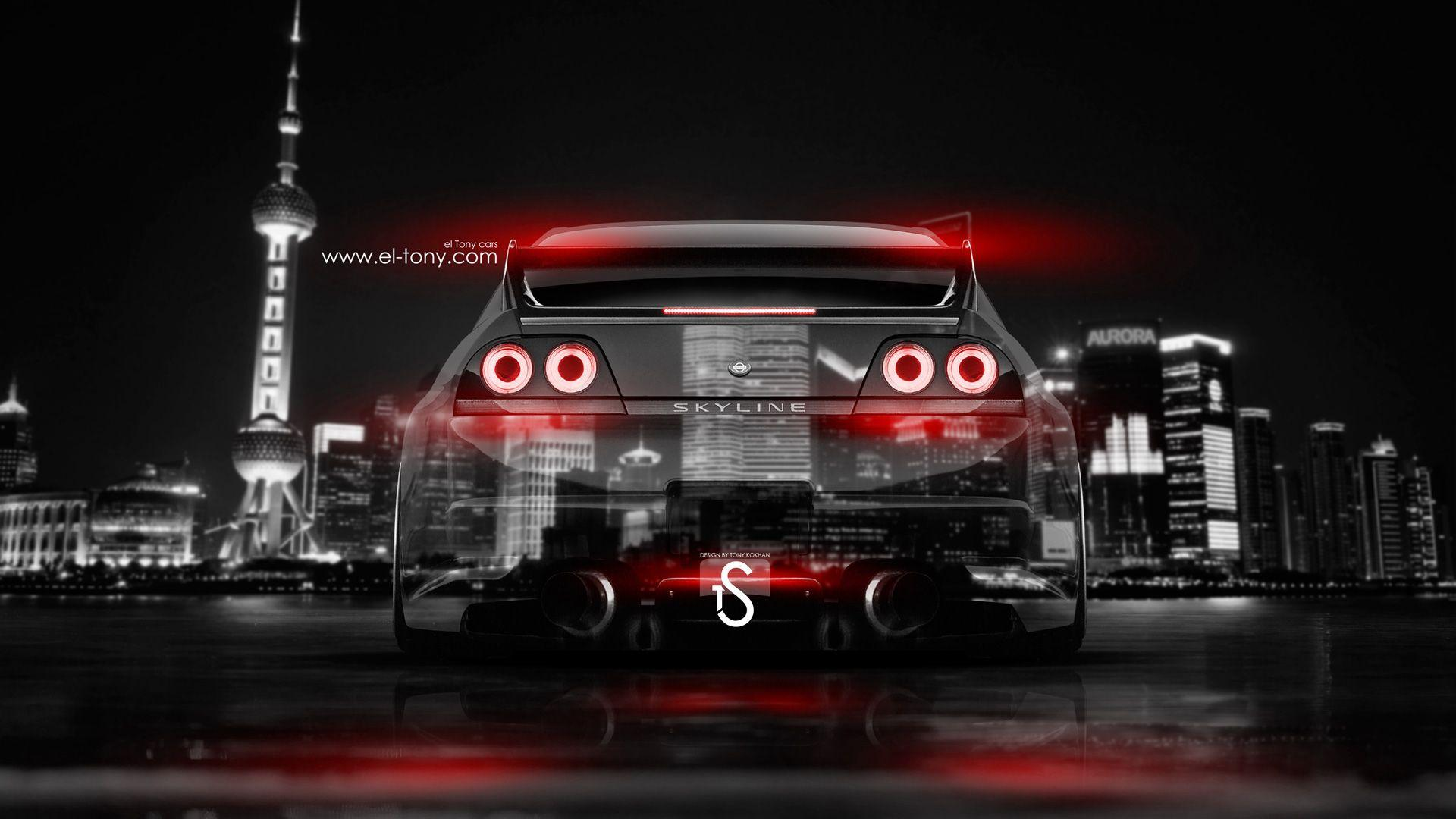 Superior Nissan Skyline GTR R33 JDM Back Crystal City Car 2014 | El Tony