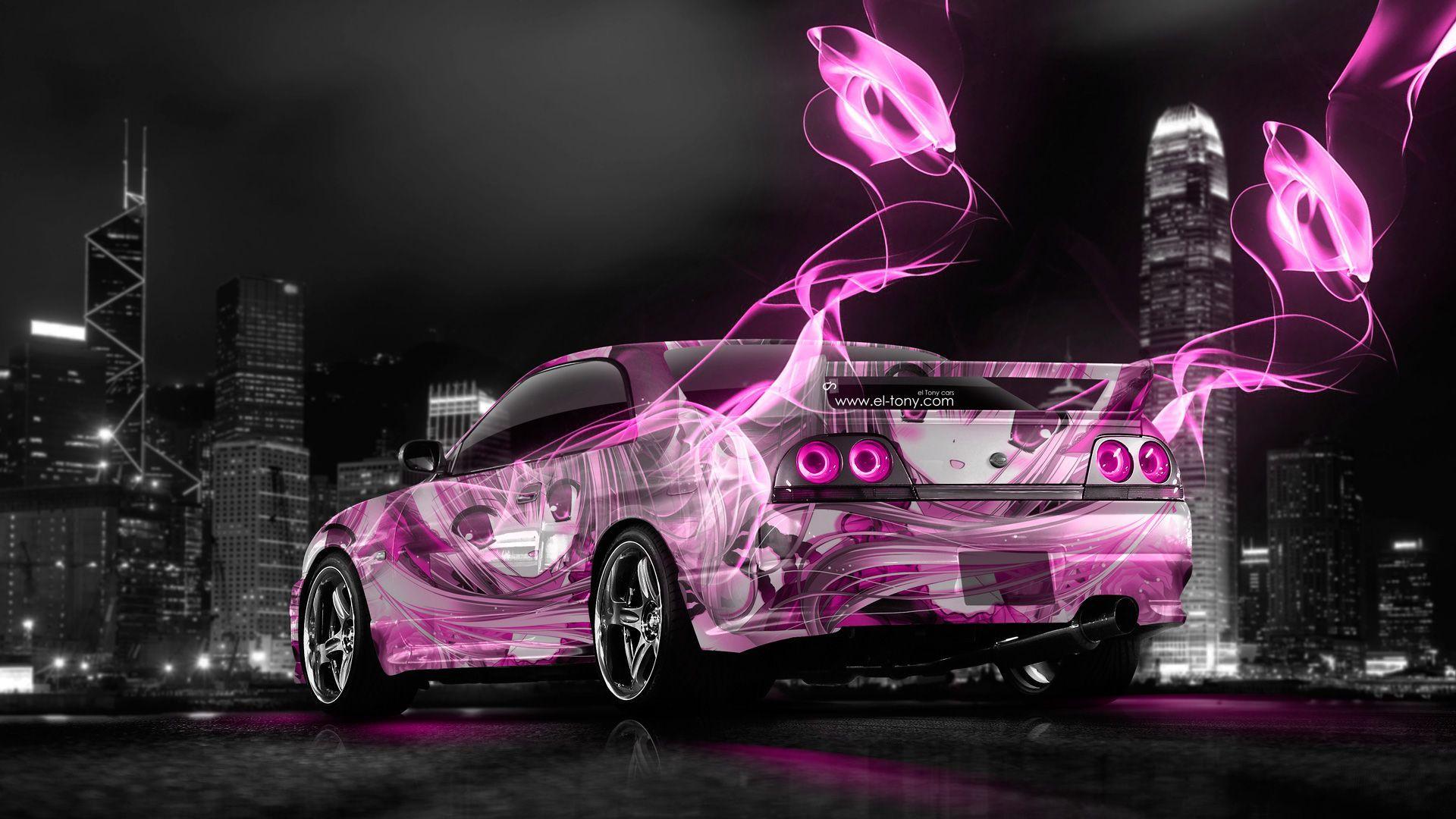 Nissan Skyline GTR R33 JDM Anime Aerography City Car 2014 | El Tony