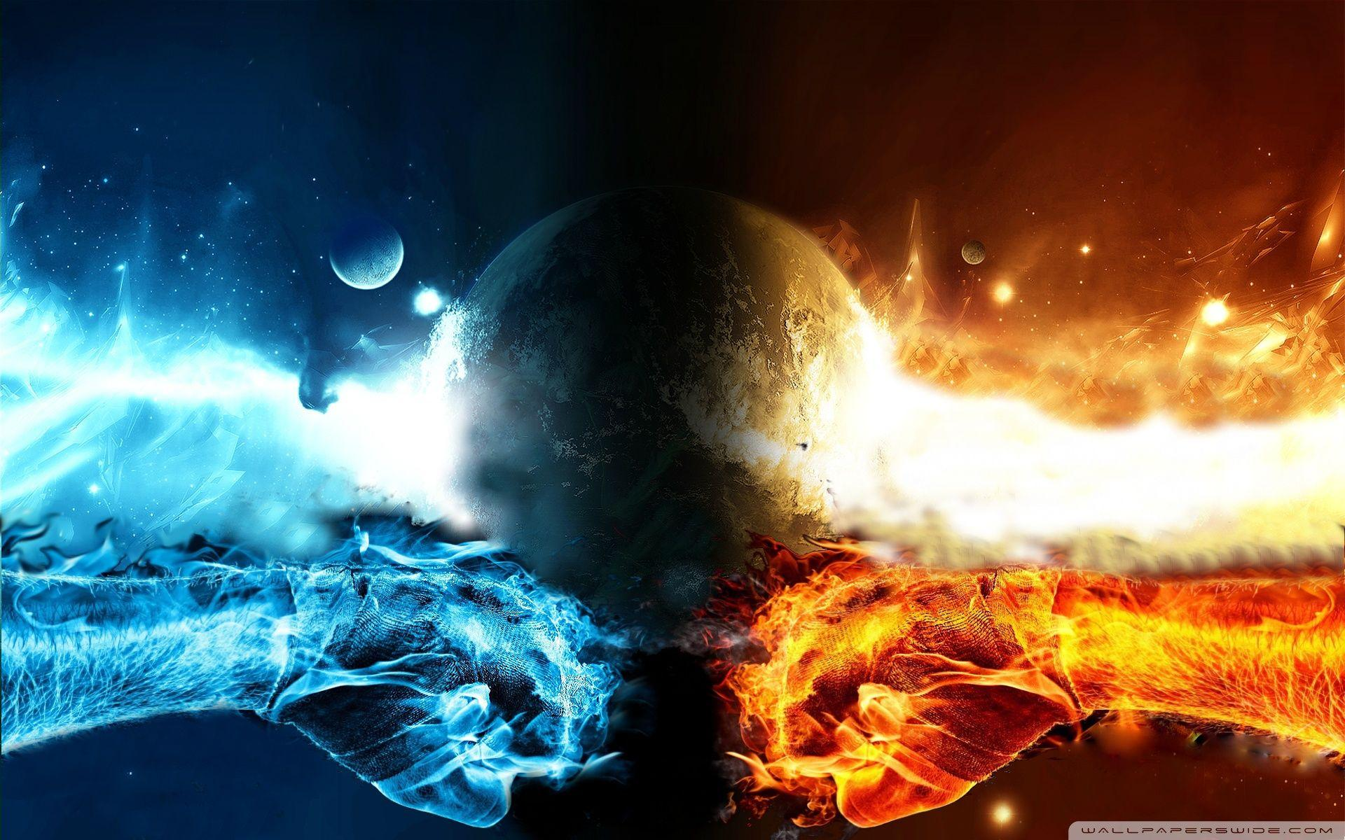 Water And Fire Backgrounds Wallpaper Cave