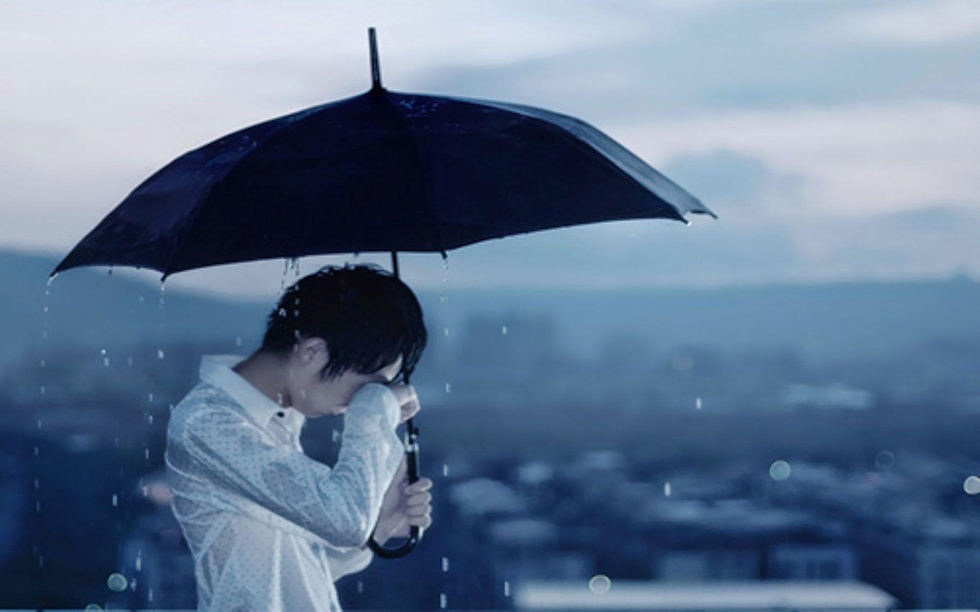 Sad Boy Alone In Rain Wallpapers Wallpaper Cave