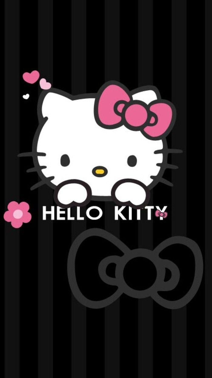 Wallpapers Hello Kitty Hitam Pink Wallpaper Cave