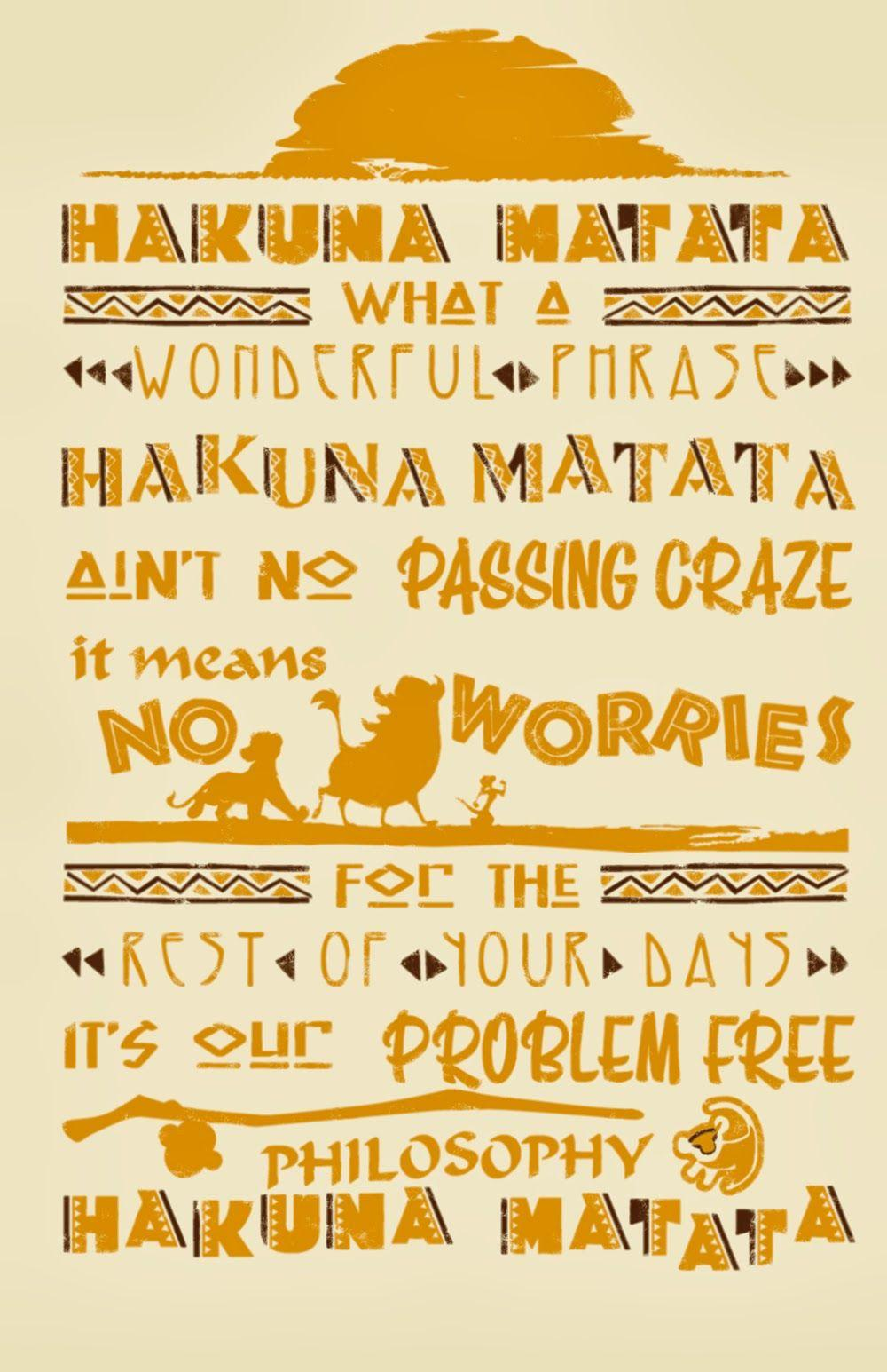 Get Iphone Hakuna Matata Wallpapers Pictures