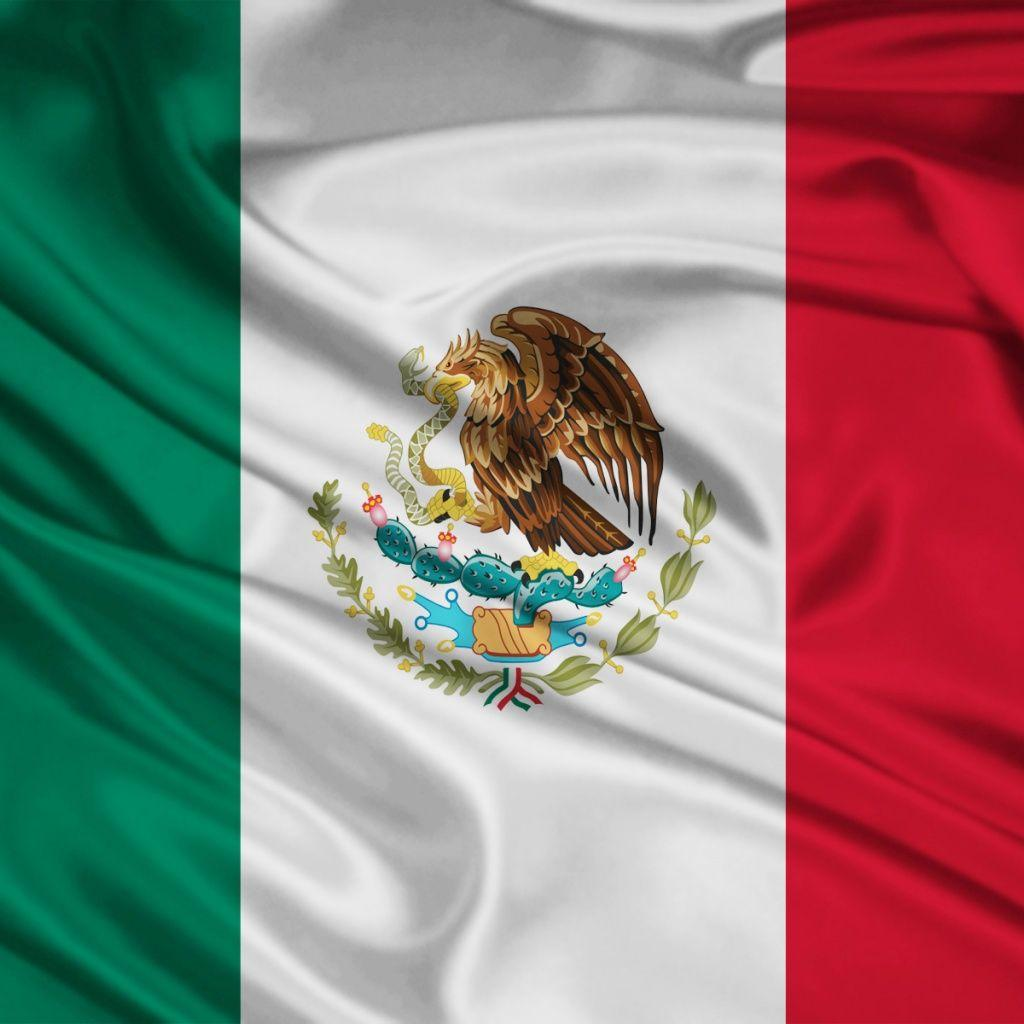 1024x1024 Mexico Flag desktop PC and Mac wallpapers