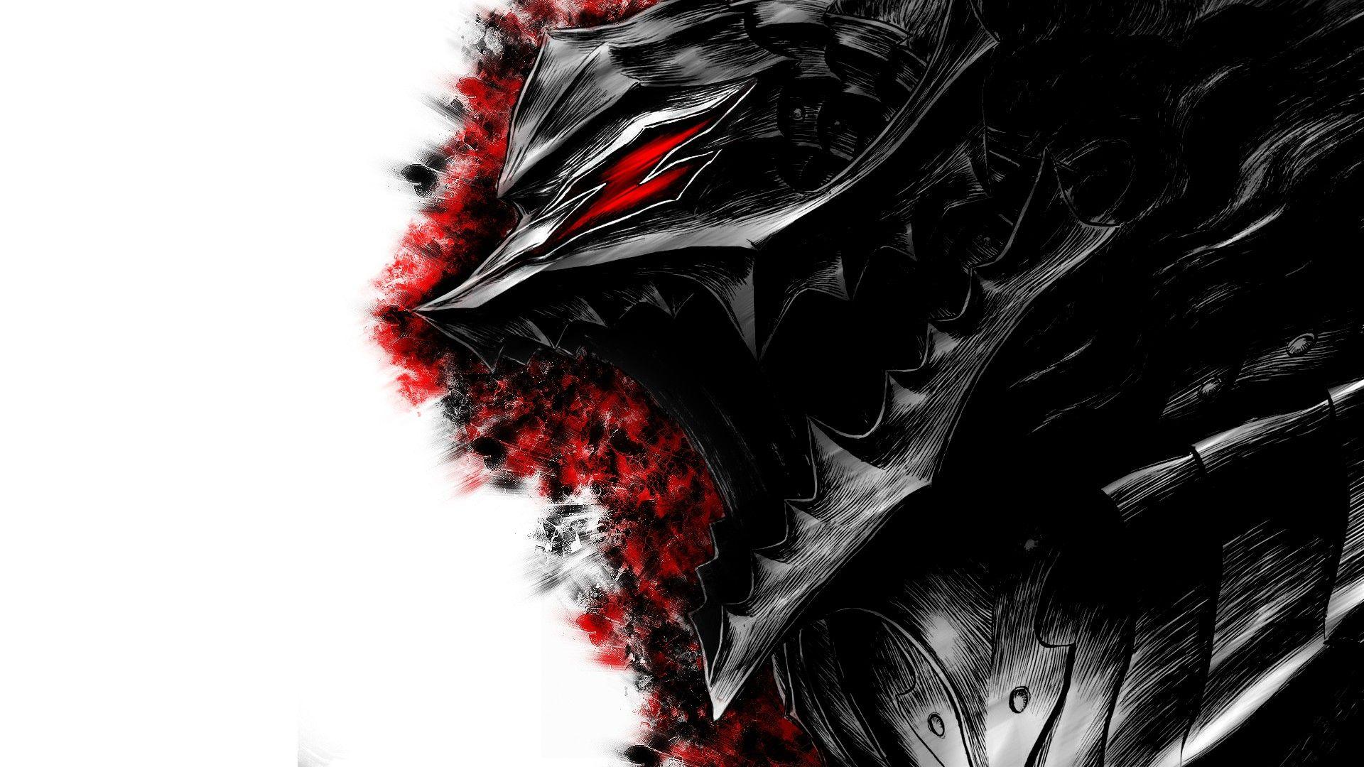 Berserk, Guts, armor, artwork, anime, anime boys :: Wallpapers