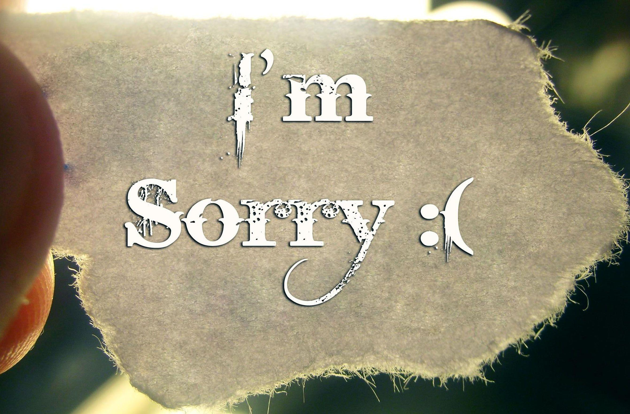 Sad Sorry Wallpaper - impremedia.net