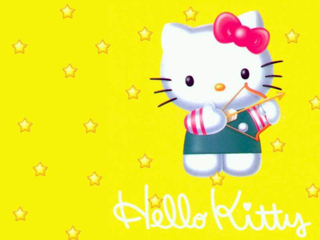 Hello Kitty Wallpapers Yellow Wallpaper Cave