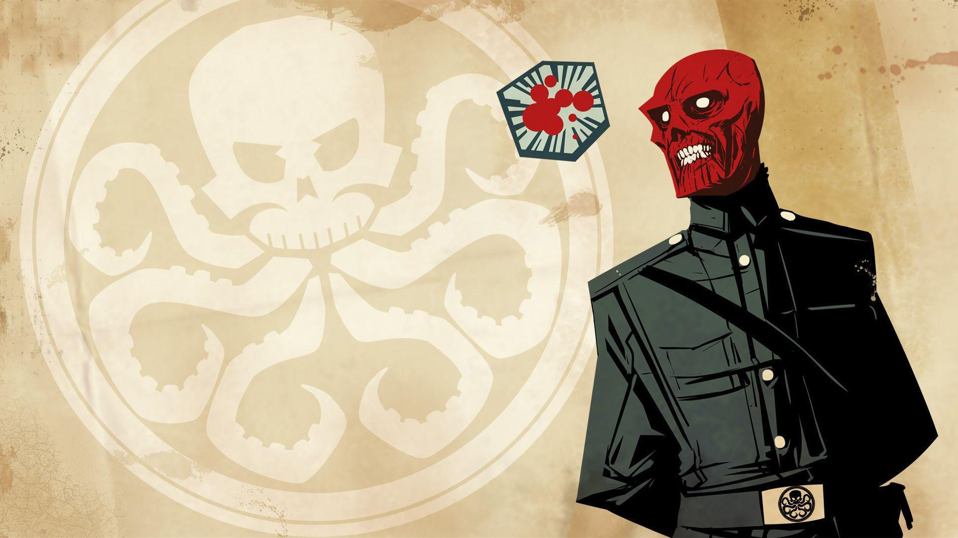 Captain America Red Skull Hydra HD wallpapers