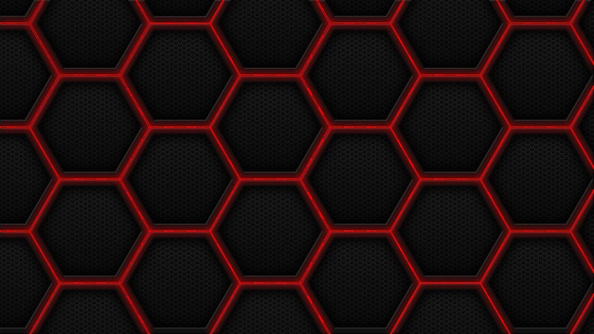 Red Hex Wallpaper 1