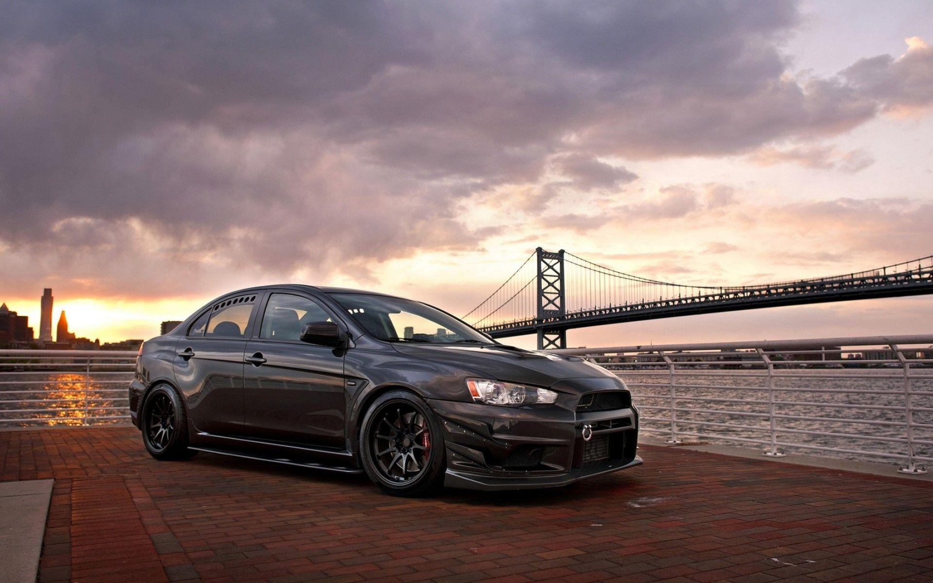 Wallpapers : sports car, Mitsubishi Lancer, Stance, Mitsubishi Lancer