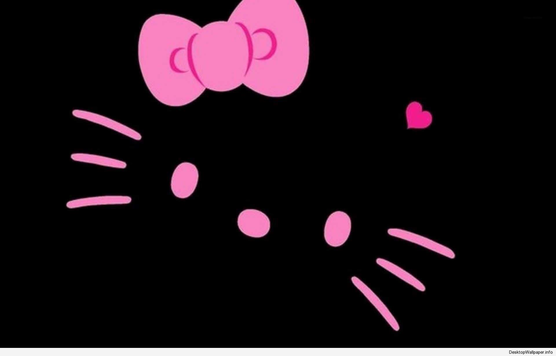 Kitty pink wallpaper dark hello The Official
