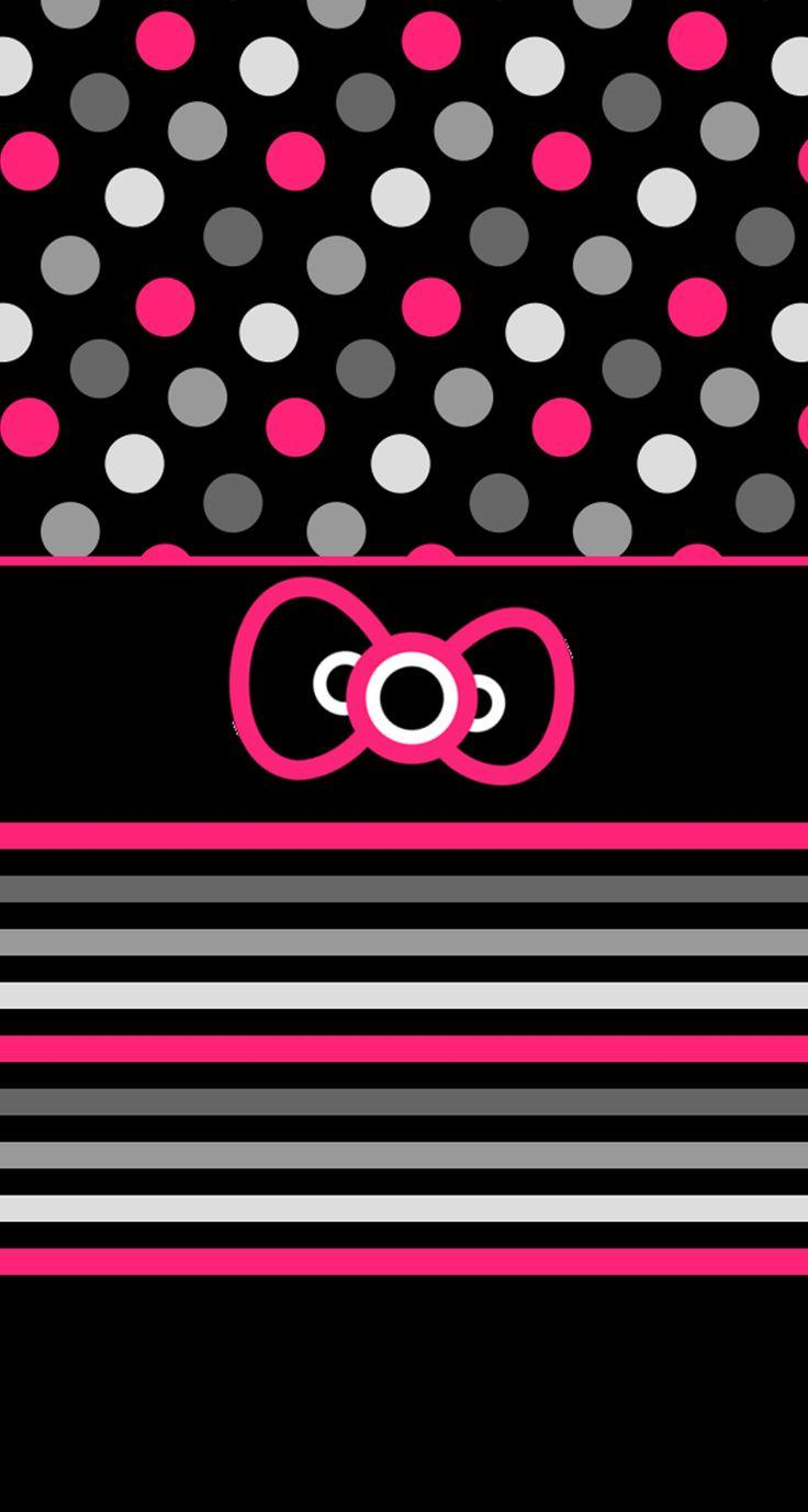 Hello Kitty Black Wallpapers Wallpaper Cave