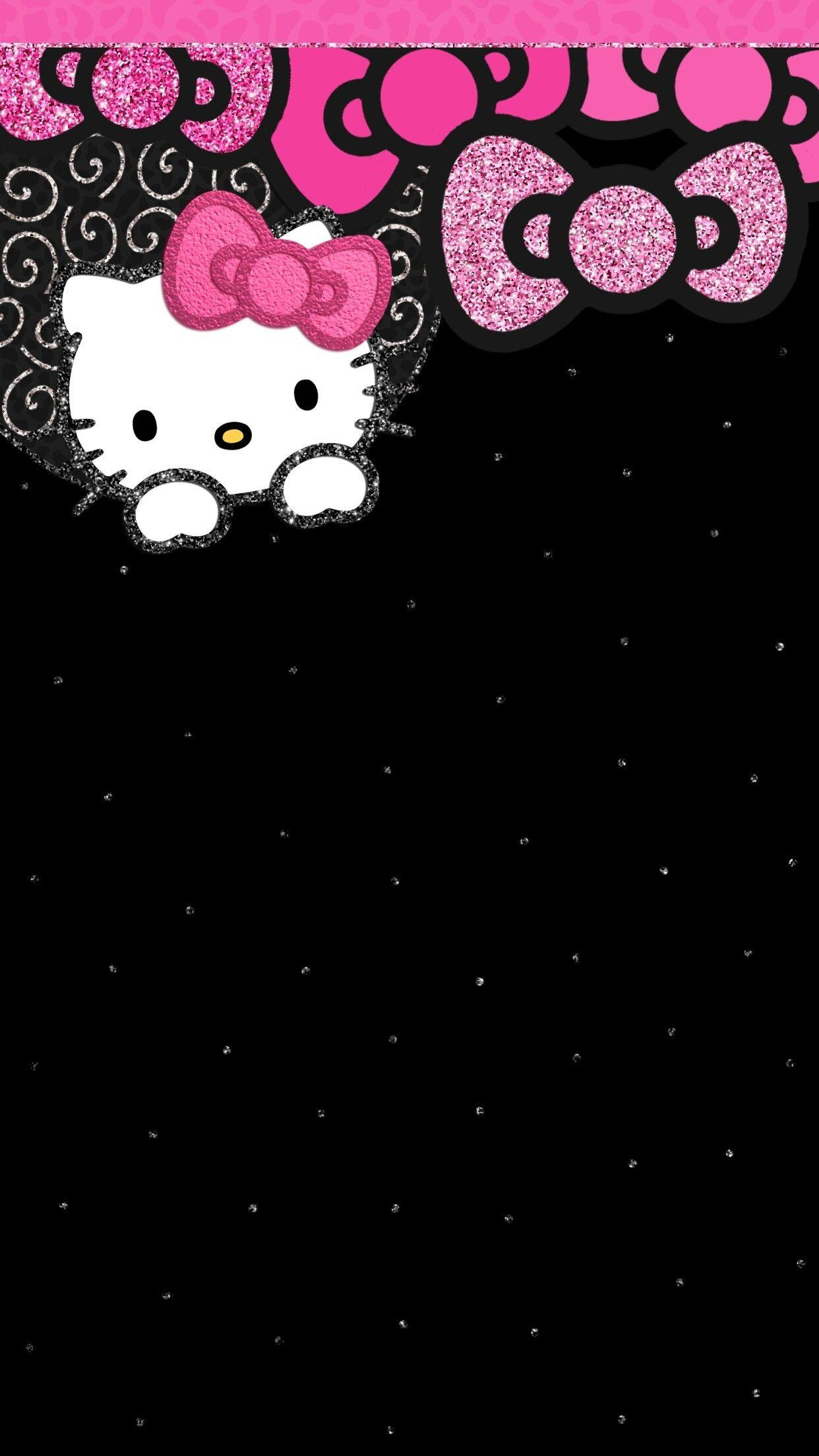 Hello Kitty Wallpapers Black And Pink - Wallpaper Cave