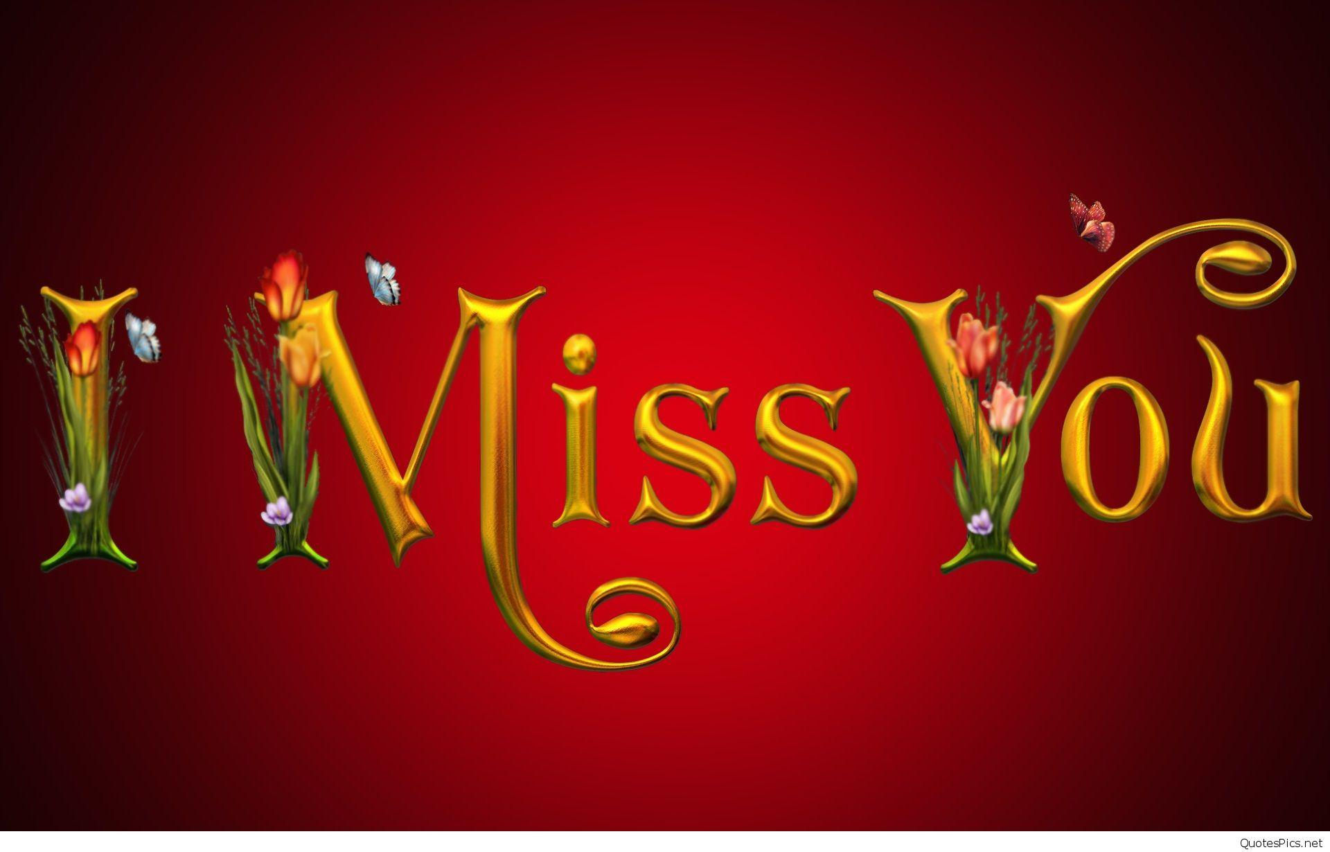 HD I Miss You Wallpapers sayings for him or her