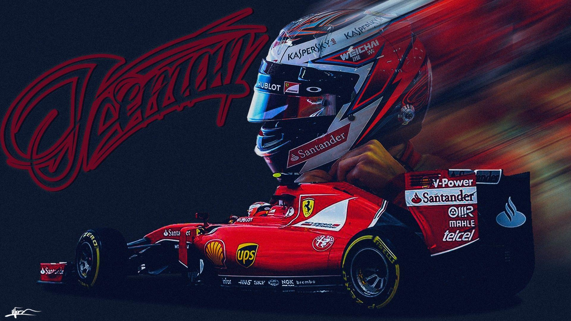 Kimi Raikkonen Ferrari Wallpapers Wallpaper Cave