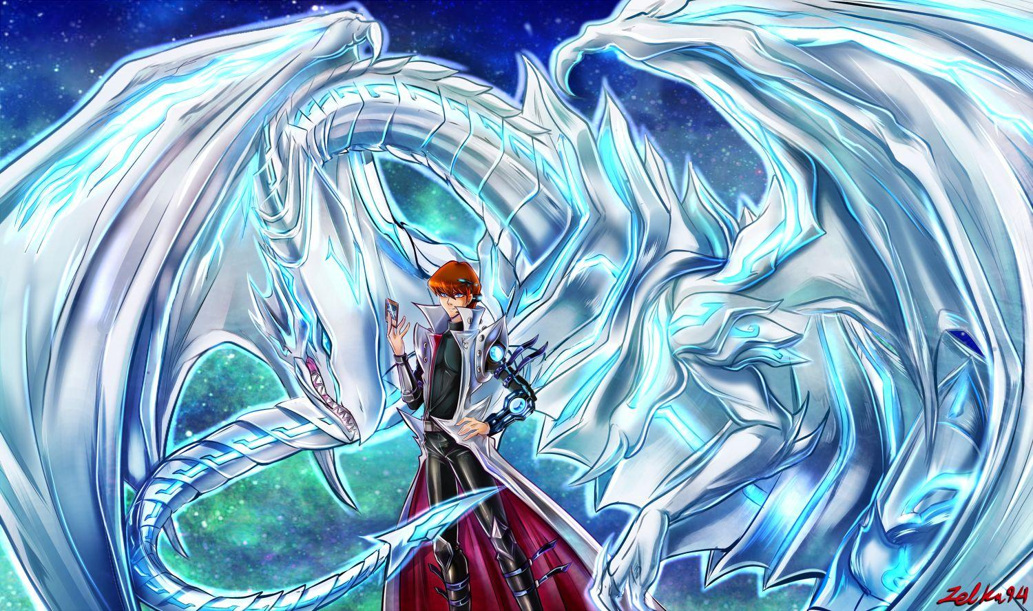 Yugioh Blue Eyes White Dragon Wallpapers Wallpaper Cave