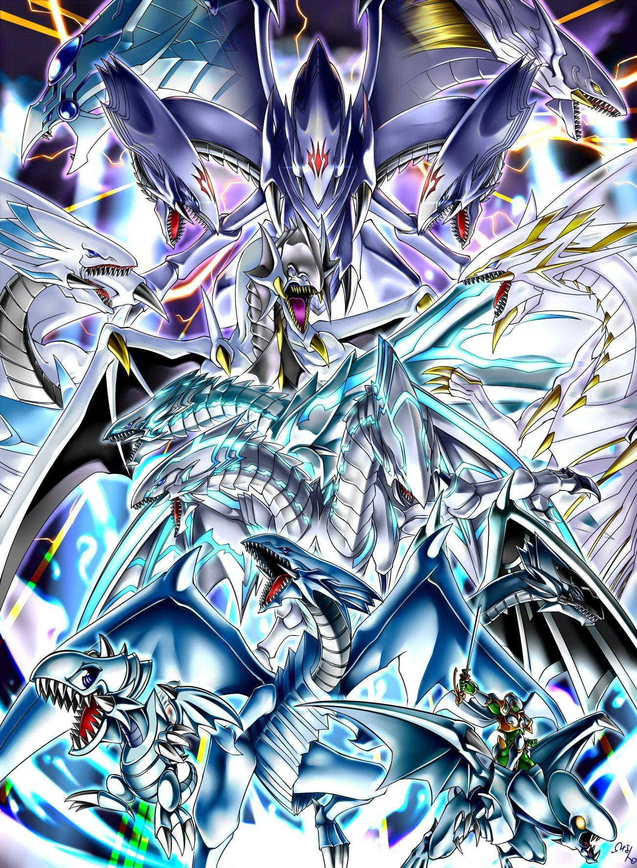 Yugioh Blue Eyes White Dragon Wallpapers - Wallpaper Cave