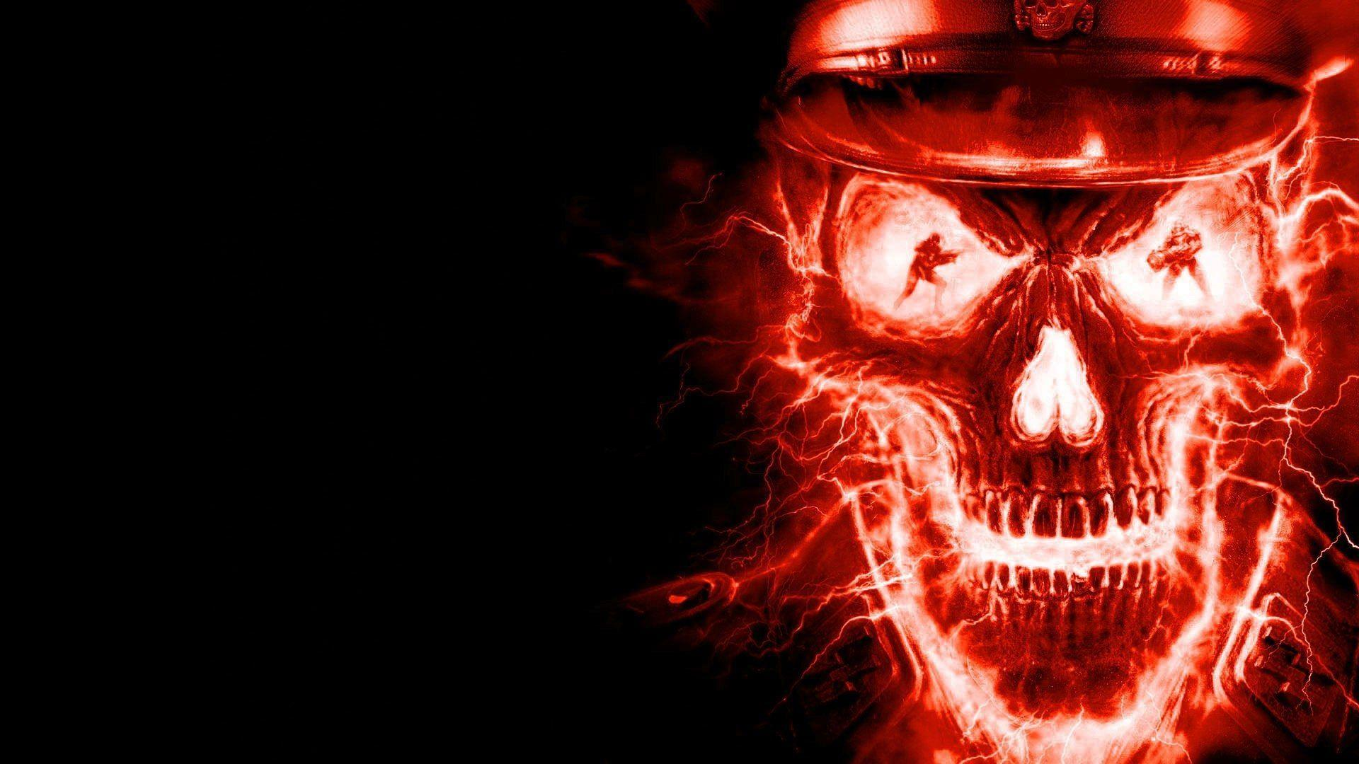 Fire Skull Wallpapers Free Download High 1920x1080PX ~ Music Skull
