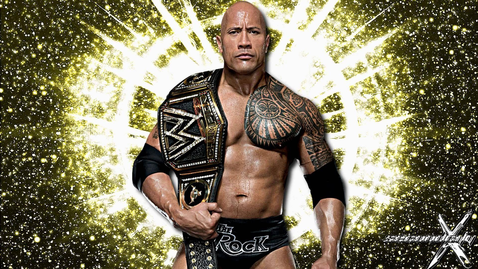 WWE The Rock Dwayne Johnson HD Wallpapers For Desktop 1600×900 The