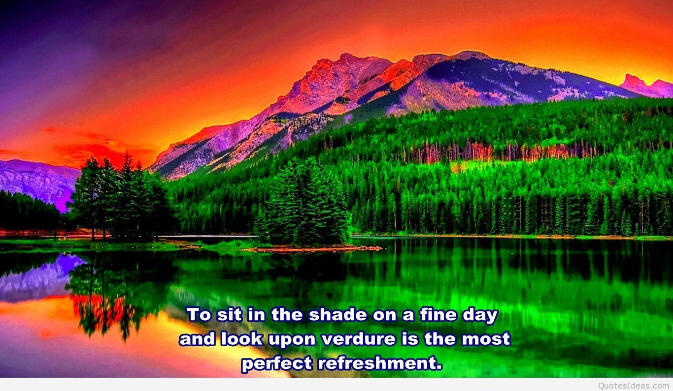 nature quotes wallpapers colorful quote wonderful landscape backgrounds desktop background into scenery mountain