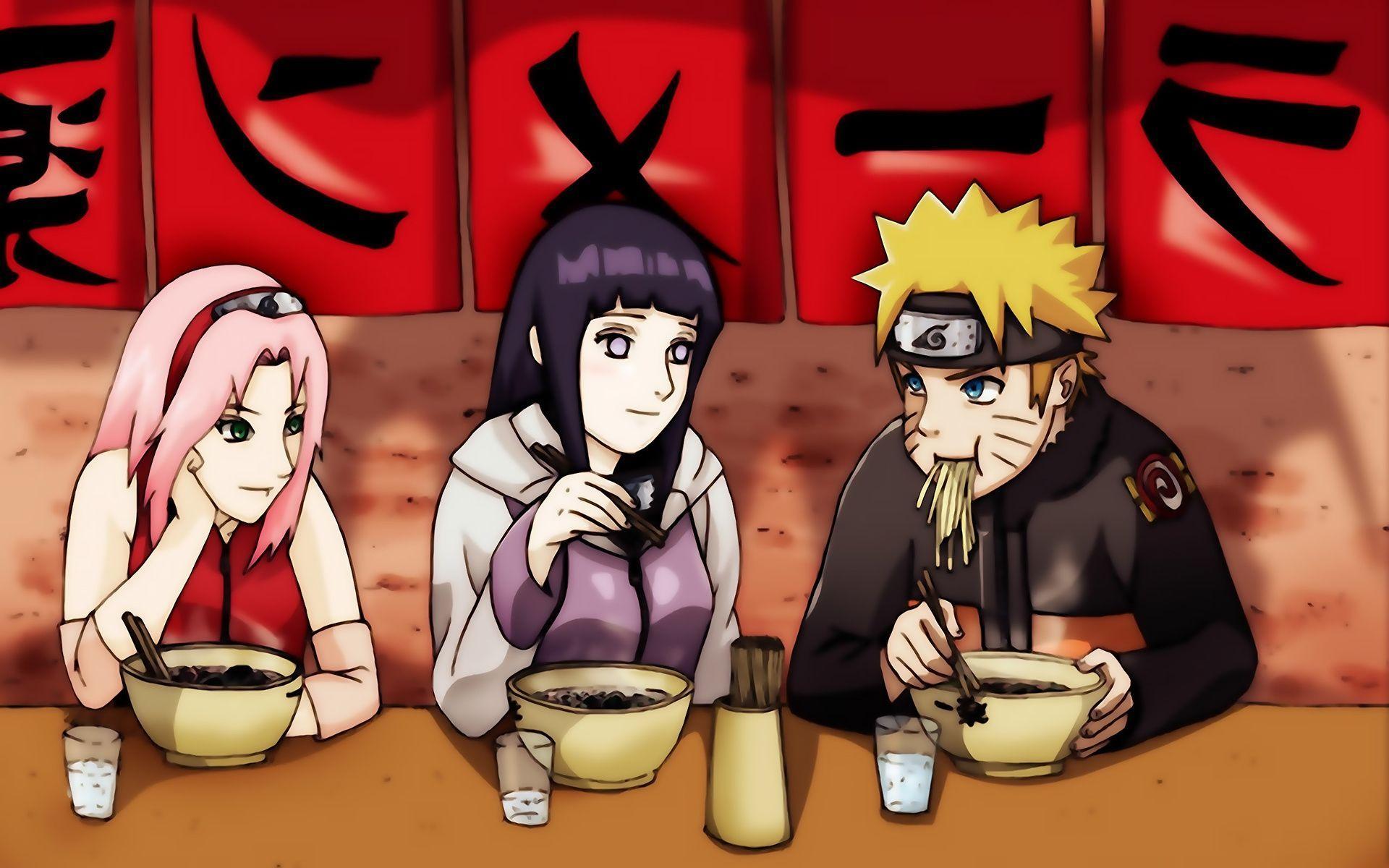 Foto Wallpapers Naruto Cium Sakura Dan Hinata Wallpaper Cave