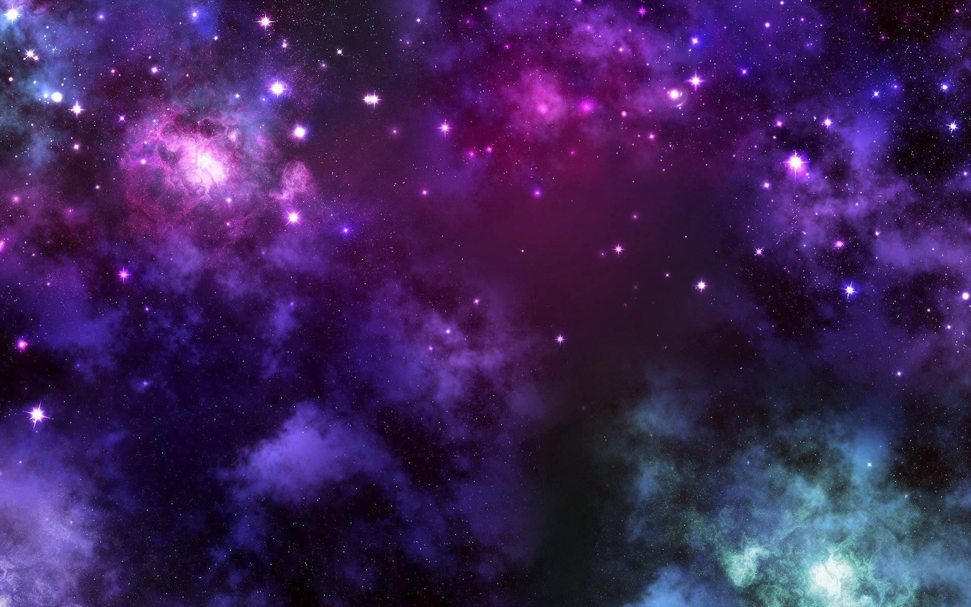 Fashion week Blue and purple galaxy background for lady