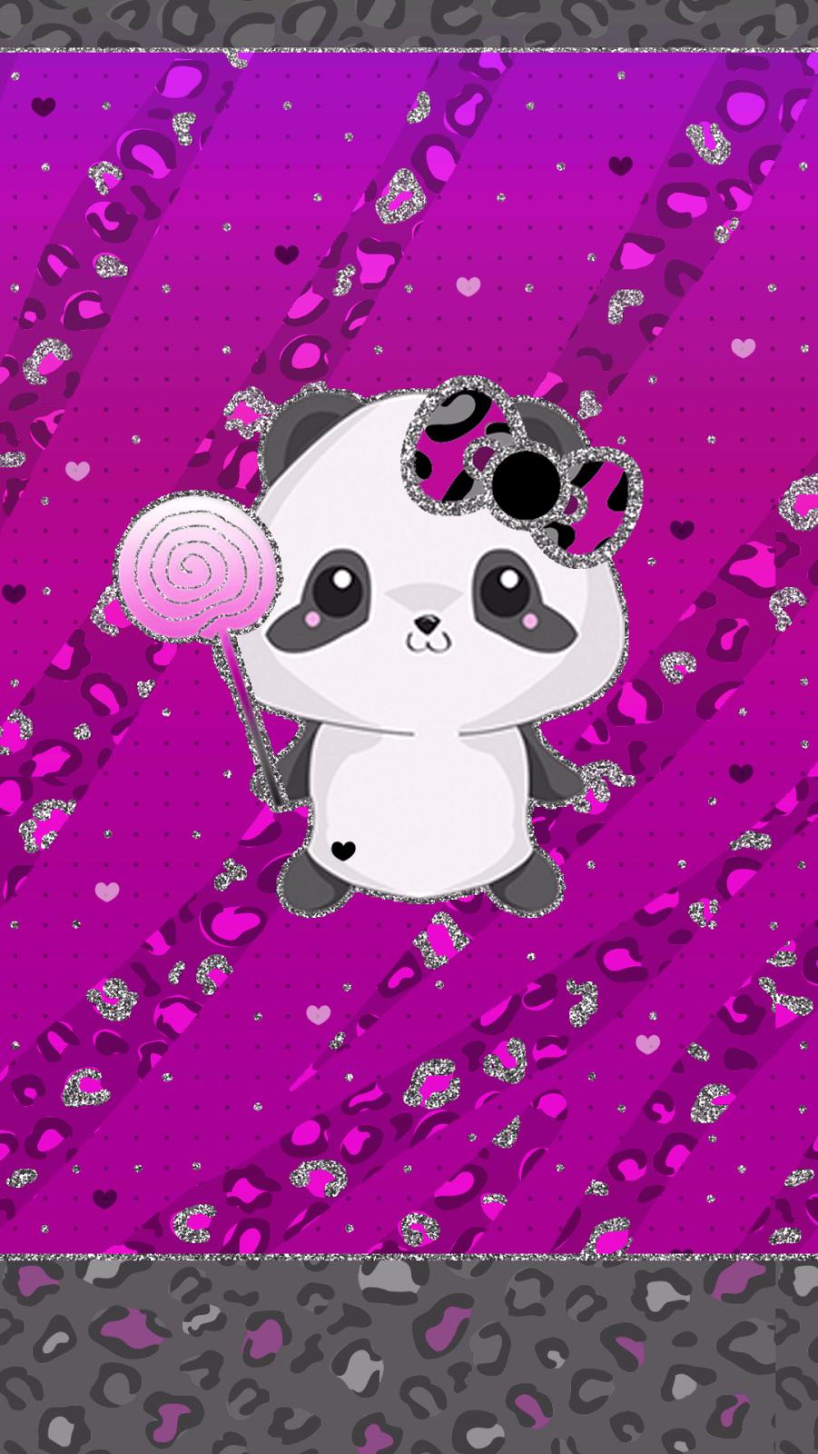 Cute Purple Panda Wallpapers Wallpaper Cave