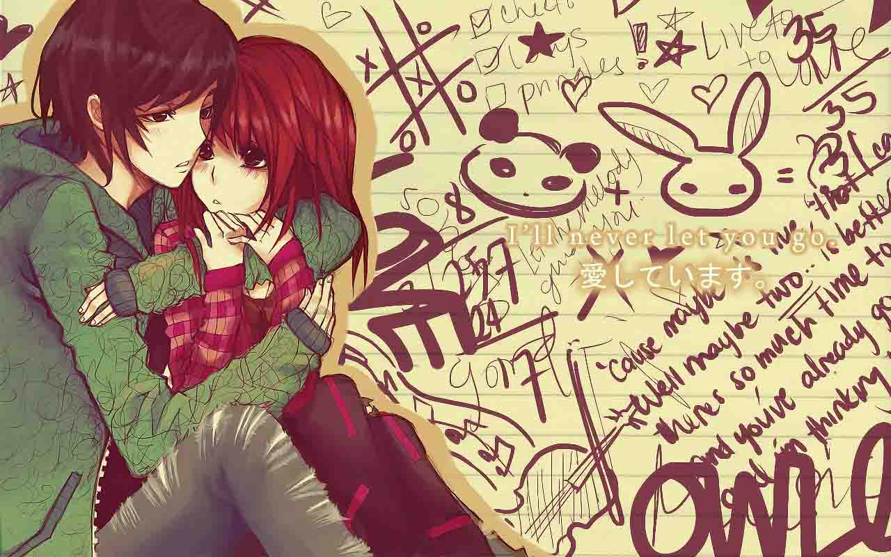 Cute cartoon couple wallpaper free download