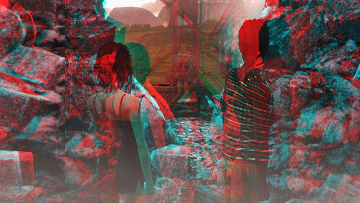 3d Wallpapers In Red Cyan Wallpaper Cave