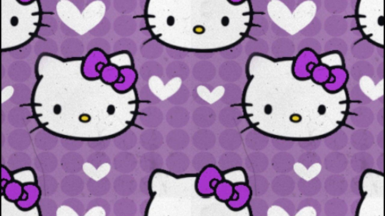 Hello Kitty Wallpapers Purple Wallpaper Cave