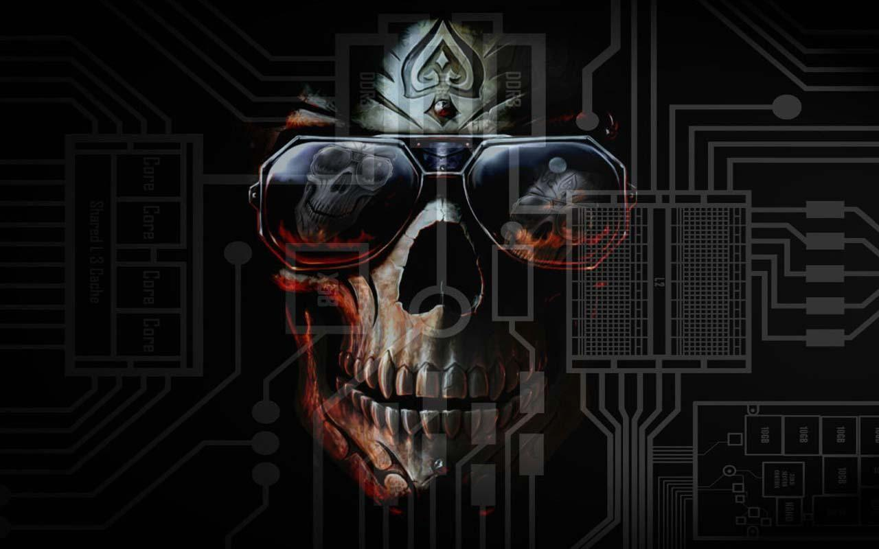 Horror Hd Wallpapers For Android: HD 3D Skull Wallpapers