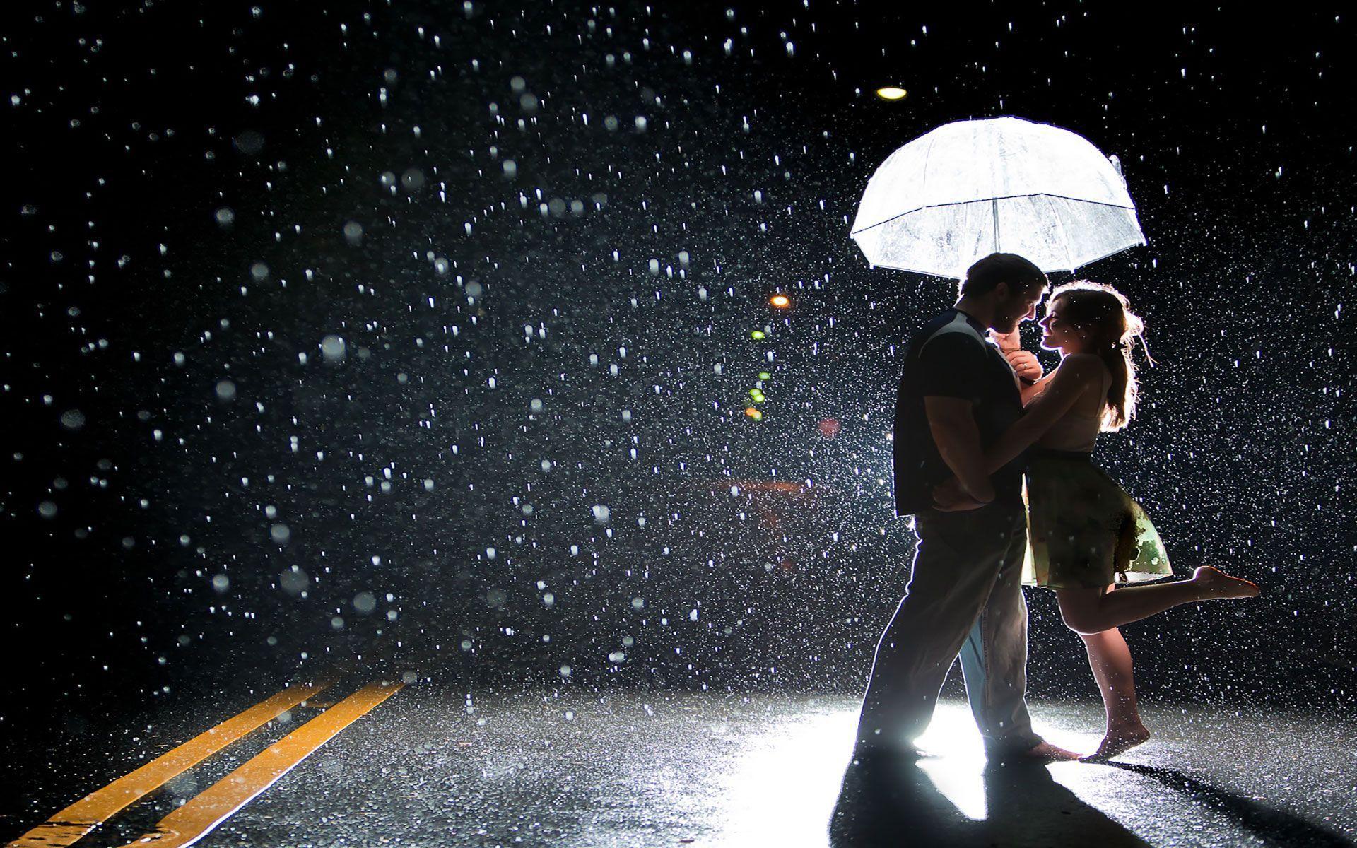 Rain Romantic Couple Wallpapers Wallpaper Cave