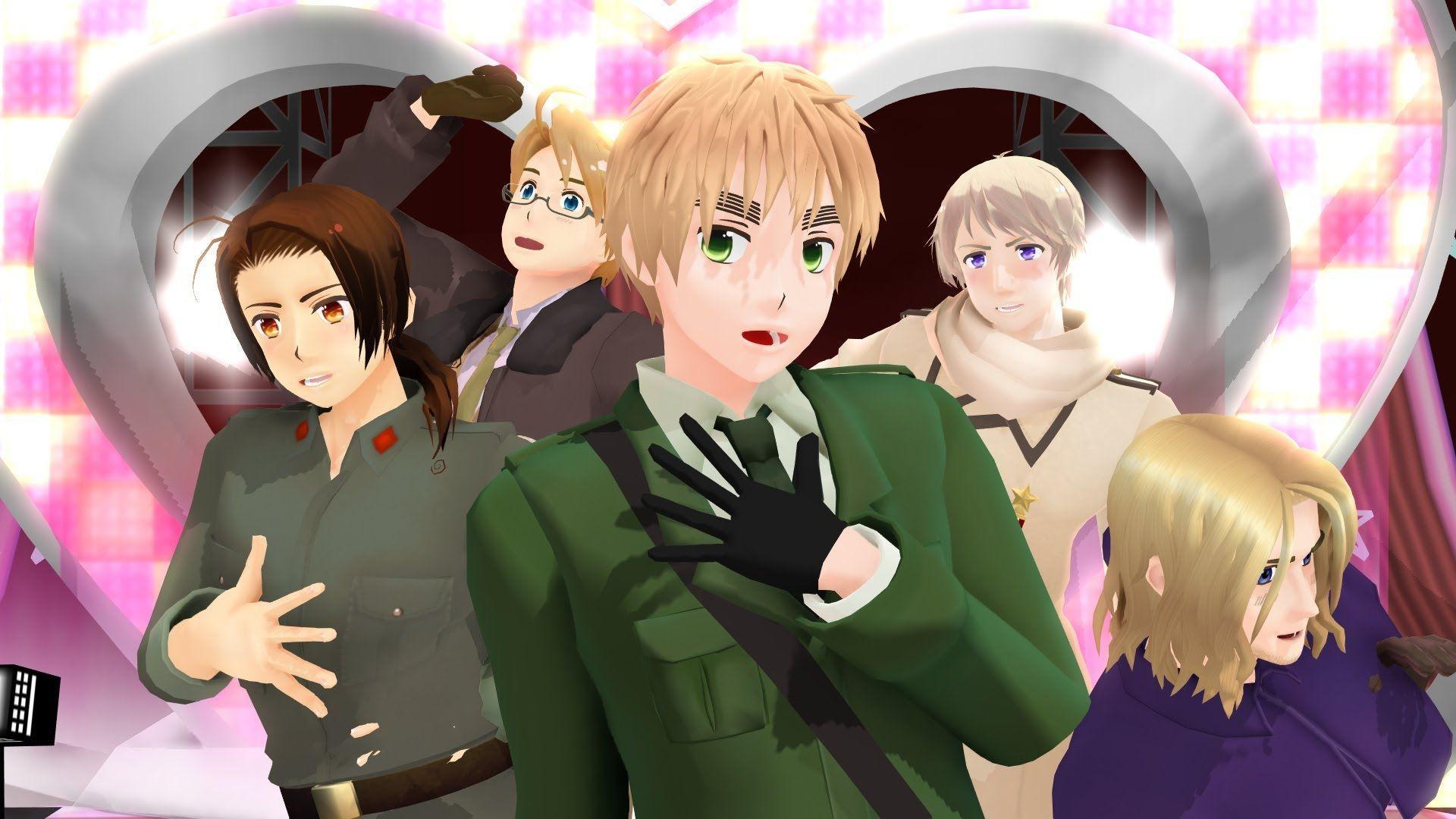 Nyotalia Allies & Axis | Hetalia, Anime, Hetalia characters | 1080x1920