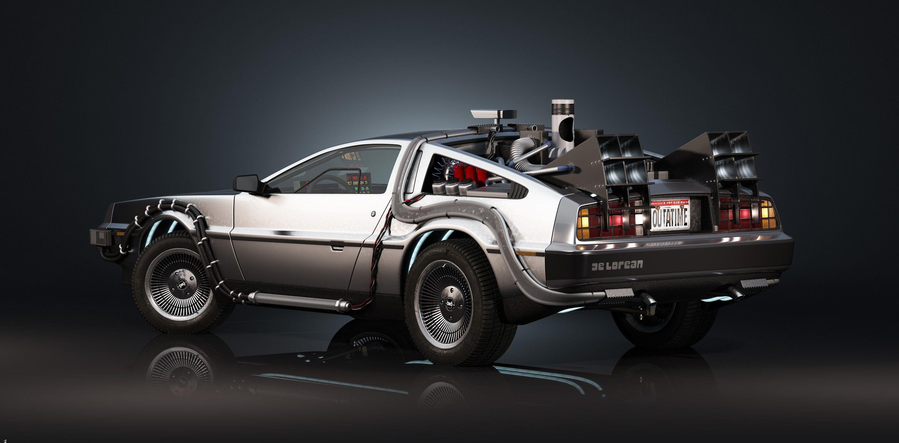 Delorean Back To The Future Wallpapers Wallpaper Cave