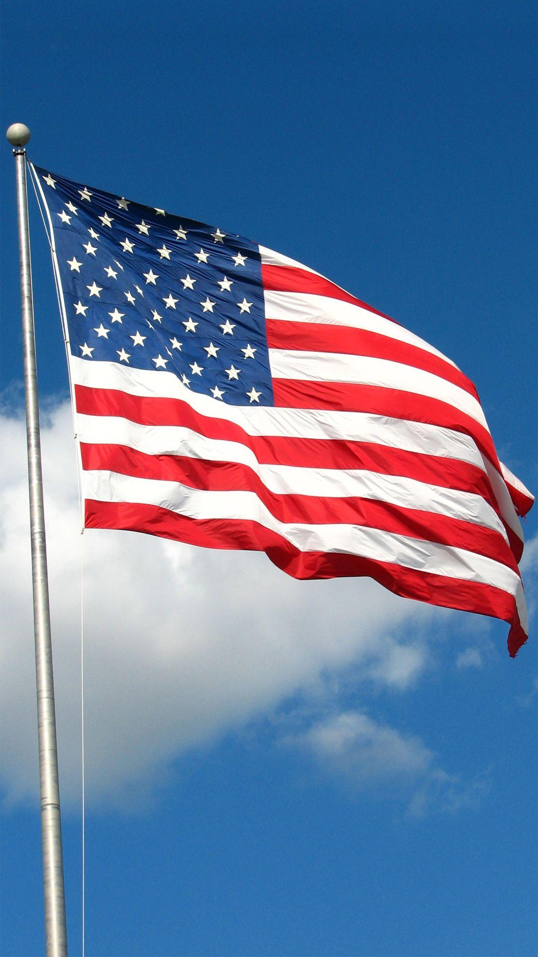 USA American Flag Sky Android Wallpapers free download