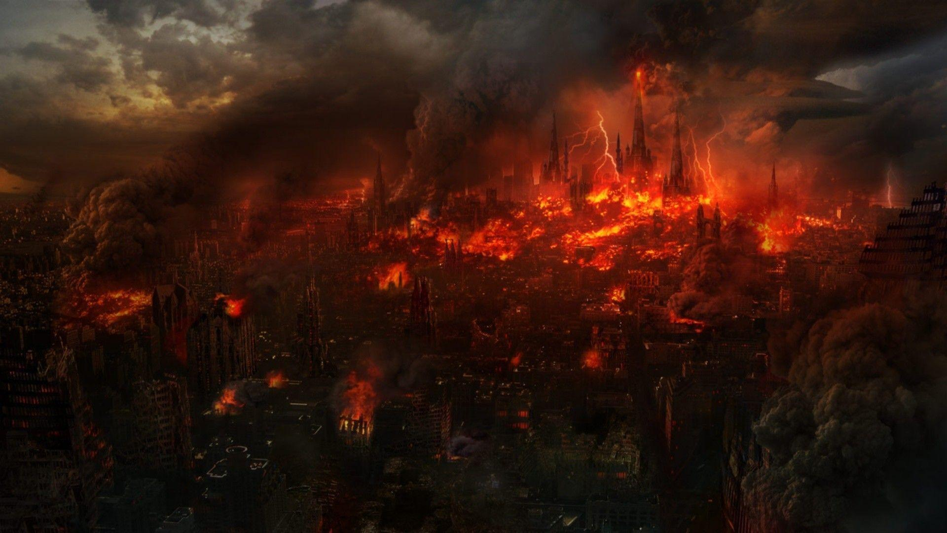 Burning City Backgrounds - Wallpaper Cave
