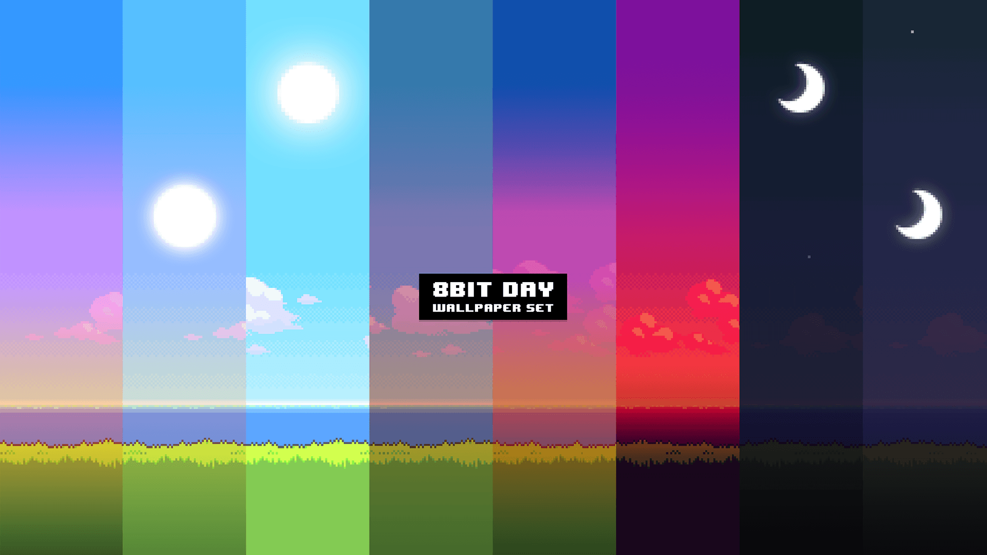 This Cool Retro Desktop Wallpapers Changes Throughout The Day