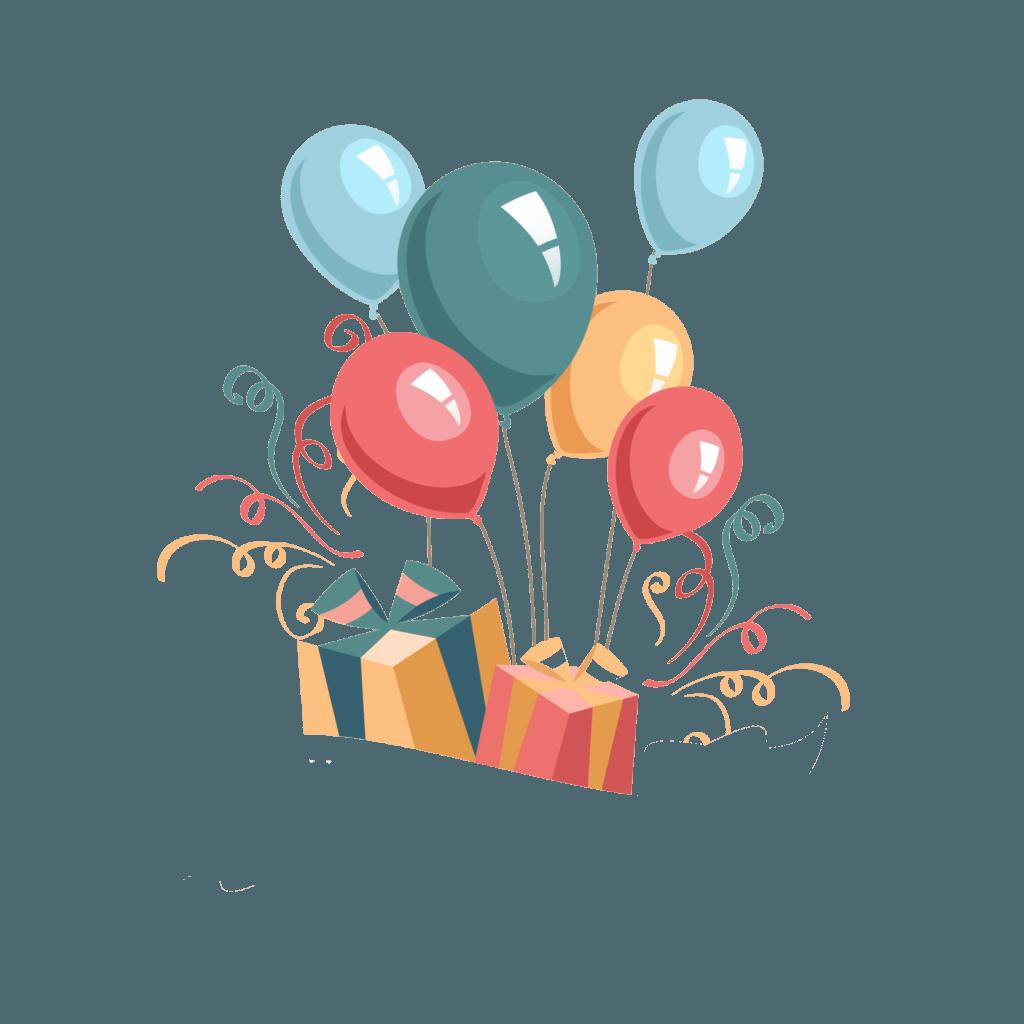 Векторный клипарт открытки с днем рождения, деду морозу