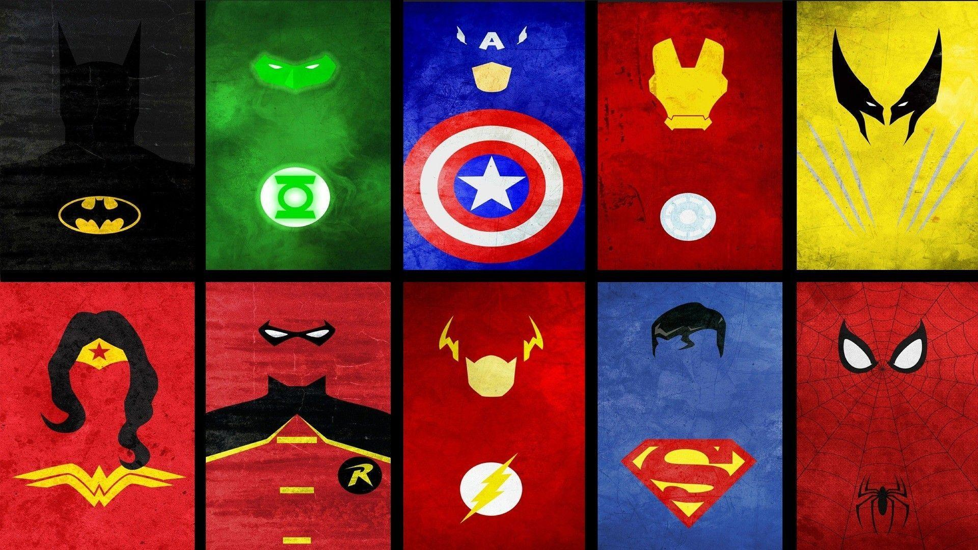Superheroes Logo Wallpapers Wallpaper Cave