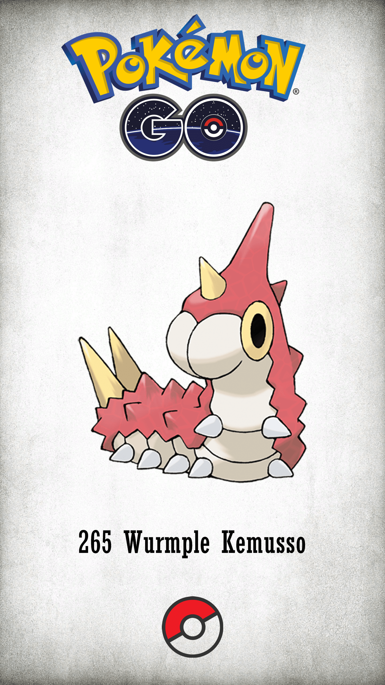 265 Character Wurmple Kemusso | Wallpaper