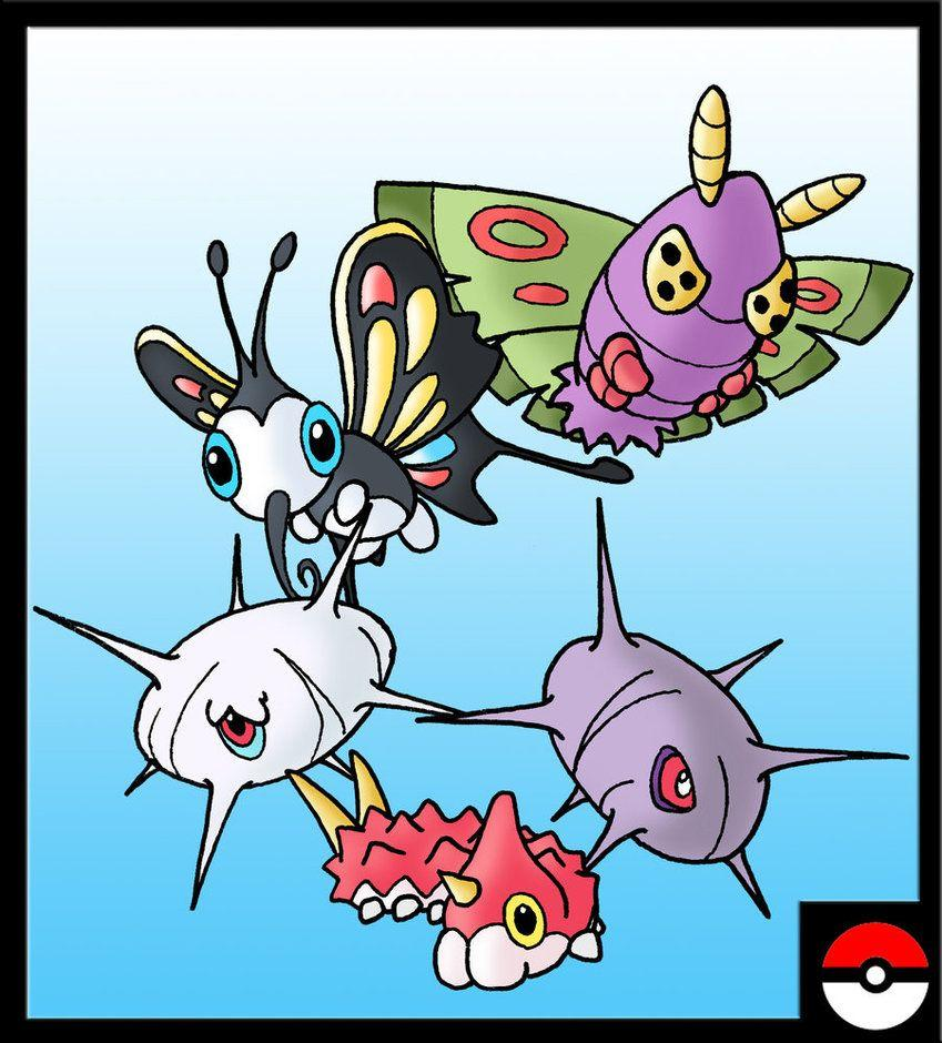 Wurmple Family by ZappaZee on DeviantArt