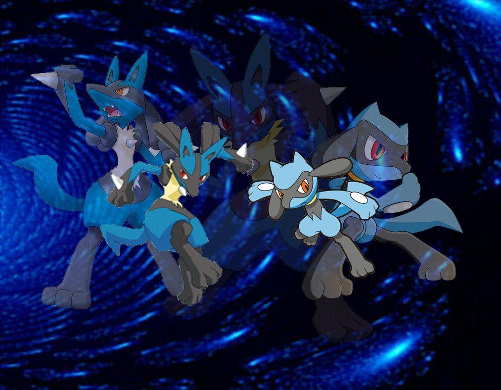 Lucario and Riolu Wallpaper by Adoramereku on DeviantArt