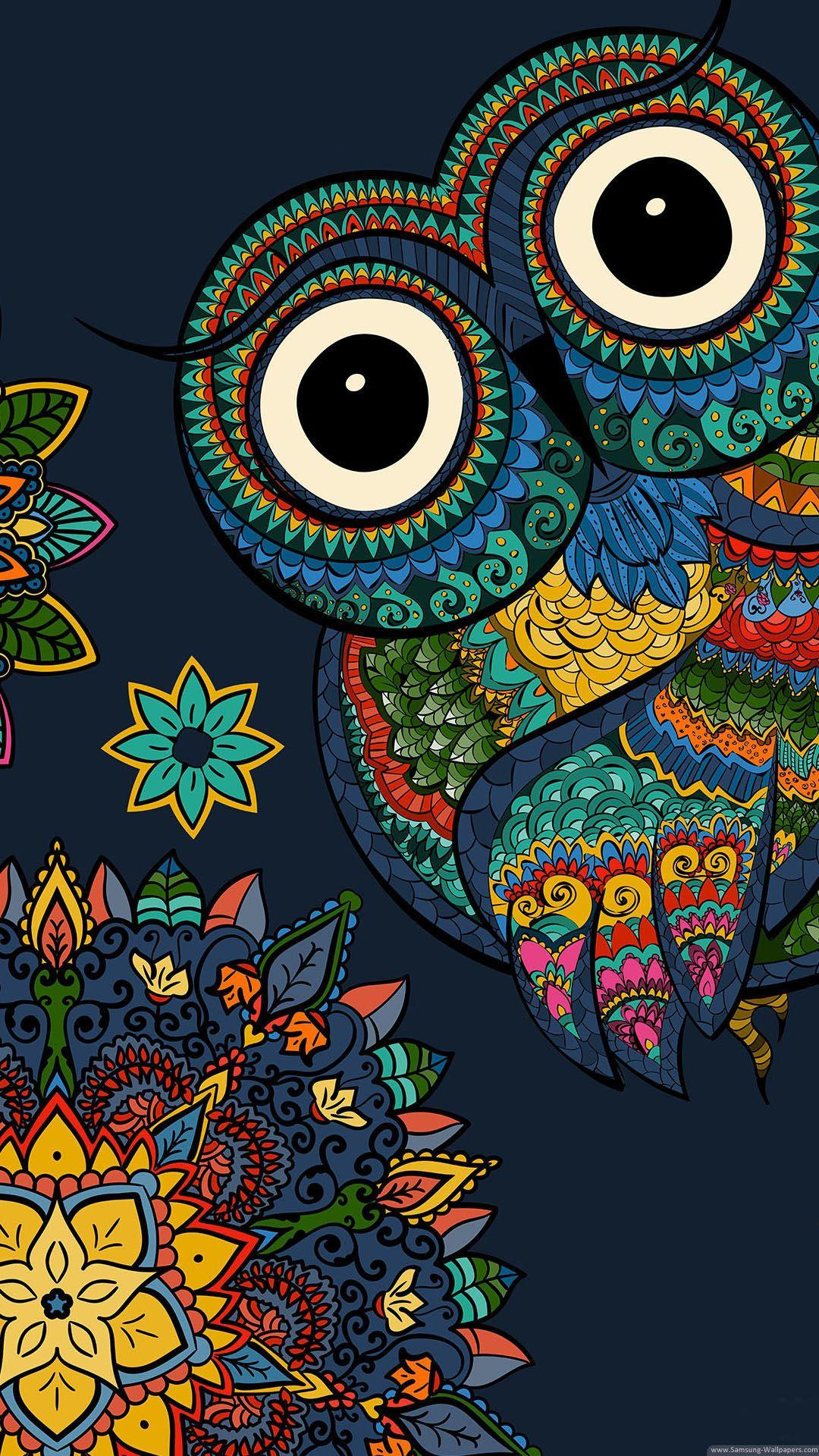 Owl Cartoon Wallpapers Wallpaper Cave