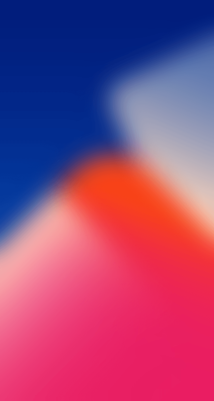 iOS 11, Red, blue, abstract, apple, wallpaper, iPhone x, iphone 8