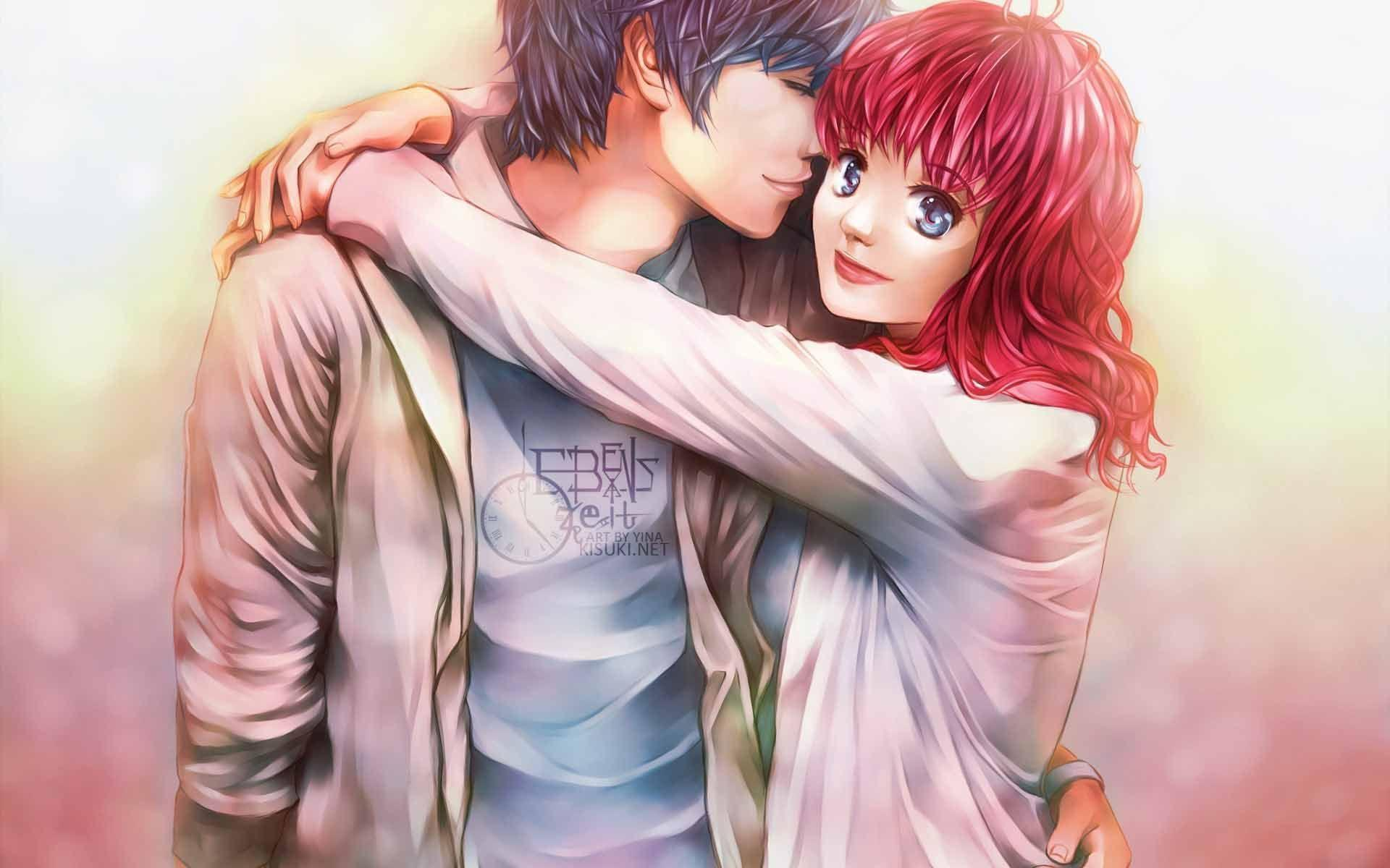 Romantic Anime Boyfriend And Girlfriend Wallpapers Wallpaper Cave