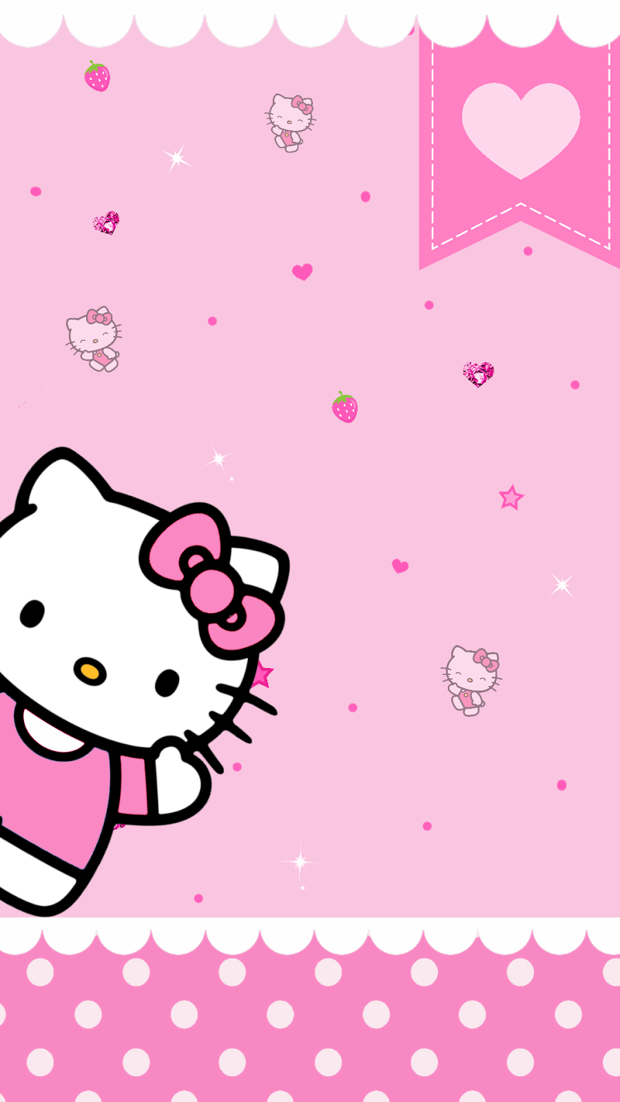 Backgrounds Pink Hello Kitty - Wallpaper Cave