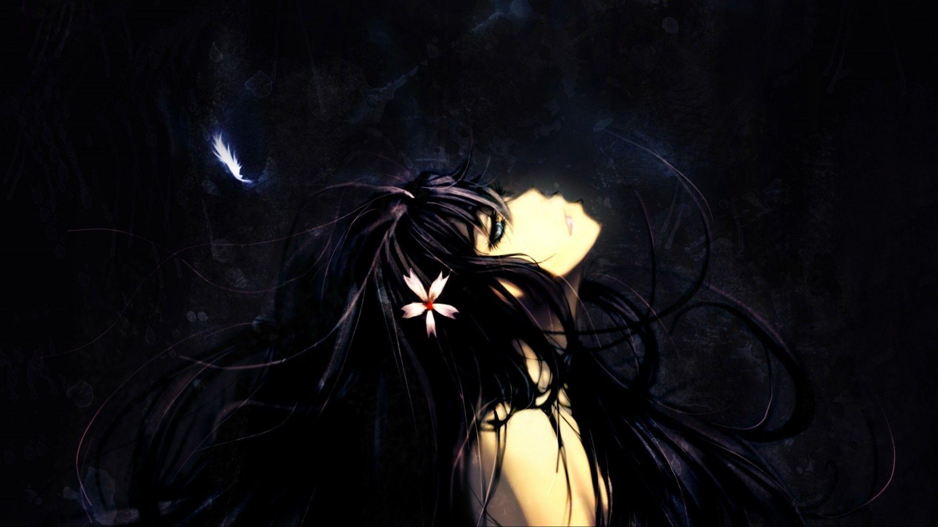 Black Hair Anime Girl Desktop Wallpapers - Wallpaper Cave