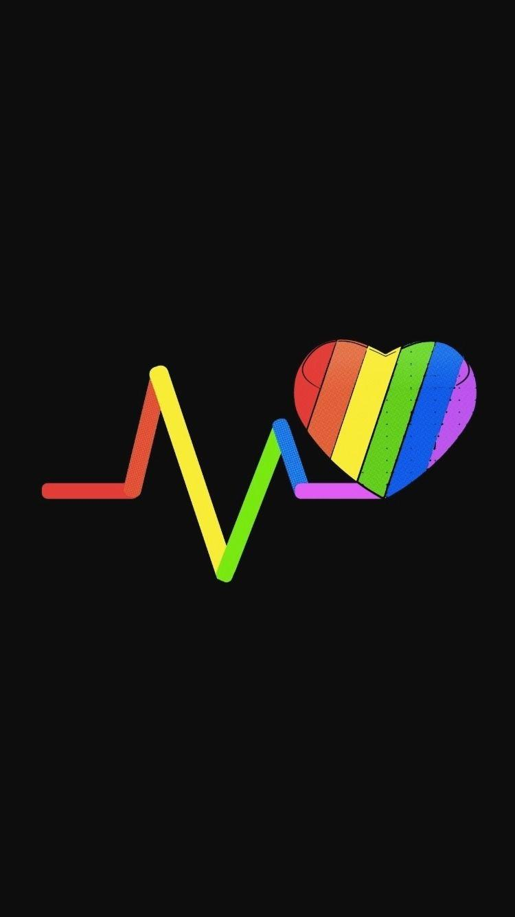 Lock Screen Lgbt Rainbow Wallpaper
