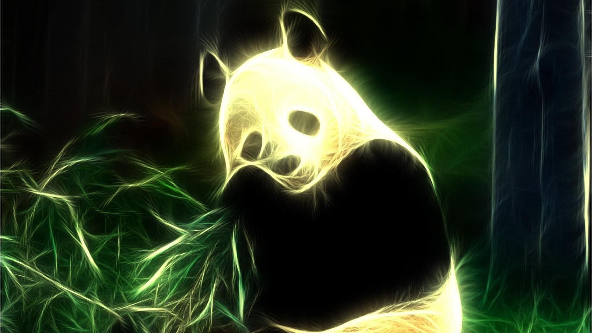Neon Wallpapers Panda Wallpaper Cave