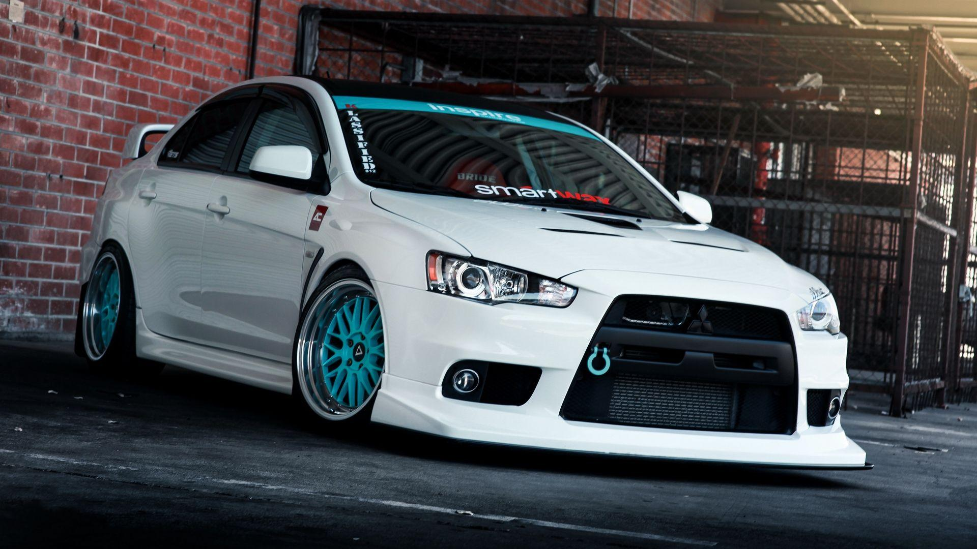 Download wallpapers 1920x1080 mitsubishi lancer, evo x, tune full hd