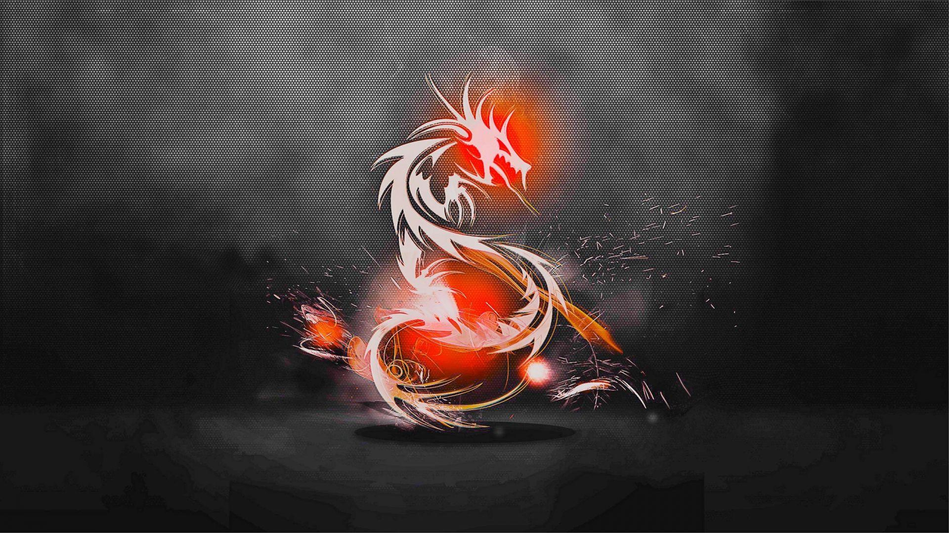 Download Wallpapers 1920x1080 dragon, background, light, shadow Full
